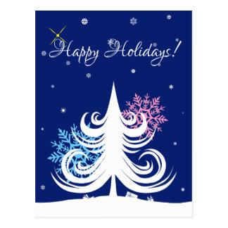 Cartão Postal Boas festas e cumprimentos customizável