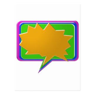 Cartão Postal Bolha da CONVERSA: Adicione o texto ou o modelo