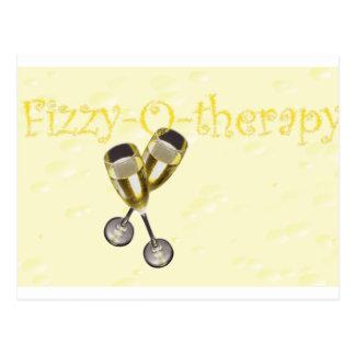 Cartão Postal bolhas da Efervescente-o-terapia