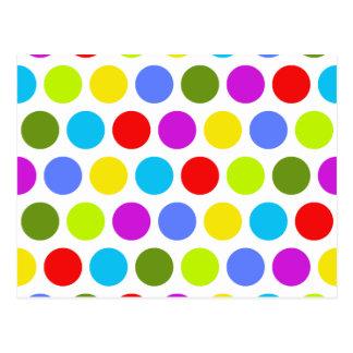 Cartão Postal Bolinhas coloridas