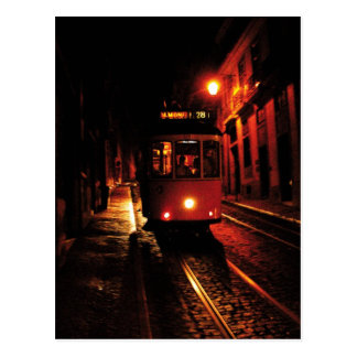 Cartão Postal Bonde da noite em Lisboa