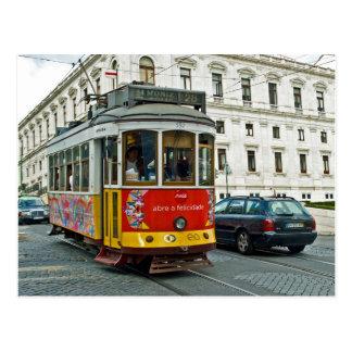 Cartão Postal Bonde em Lisboa, Portugal