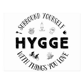 Cartão Postal Bordadura você mesmo W. Hygge (B&W)
