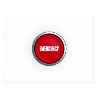 Cartão Postal Botão da emergência