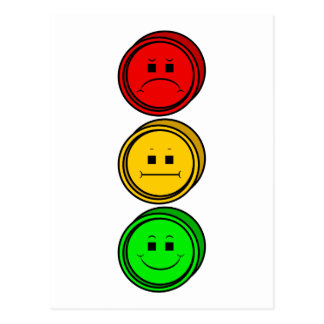 Cartão Postal Botões temperamentais do sinal de trânsito