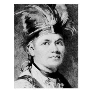 Cartão Postal Brant - Joseph/chefe indiano do Mohawk