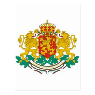 Cartão Postal Brasão BG de Bulgária