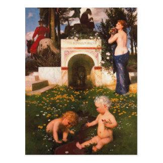 Cartão Postal Breve do somnium de Vita por Arnold Böcklin