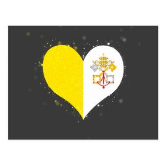 Cartão Postal Brilho da bandeira da Cidade do Vaticano original