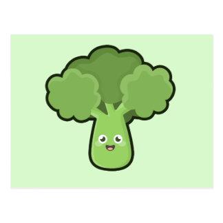 Cartão Postal Brócolos de Kawaii