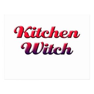 Cartão Postal bruxa da cozinha