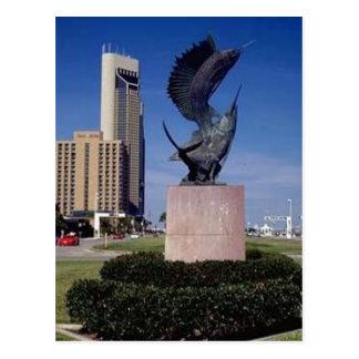 Cartão Postal Bulevar da linha costeira, Corpus Christi, TX