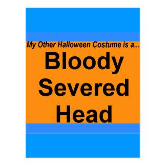 Cartão Postal Cabeça cortada sangrenta