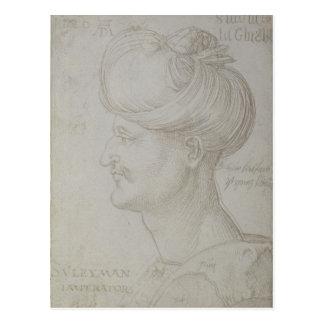 Cartão Postal Cabeça de Suleyman o 1526 magnífico