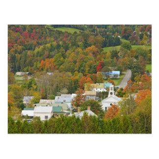 Cartão Postal Cabot, Vermont na queda. Reino do nordeste
