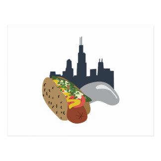 Cartão Postal Cachorro quente de Chicago
