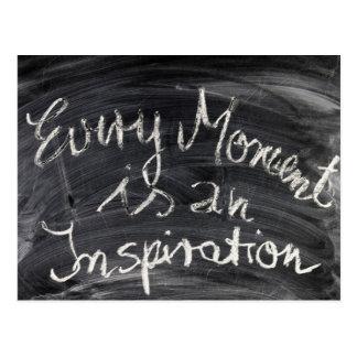 Cartão Postal Cada momento é uma inspiração!