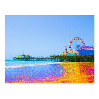 Cartão Postal Cais Funky de Santa Monica dos pixéis