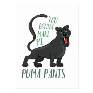 Cartão Postal Calças do puma