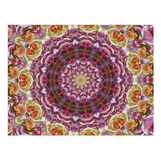 Cartão Postal Caleidoscópio dos rosas