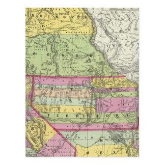 Cartão Postal Califórnia, Oregon, Washington, Utá, New mexico 8