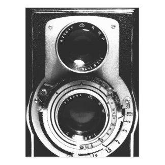 Cartão Postal Câmera do b&w do vintage