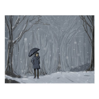 Cartão Postal Caminhada nevado