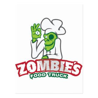 Cartão Postal Caminhão da comida do zombi