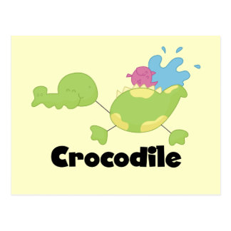 Cartão Postal Camiseta e presentes do crocodilo da vara