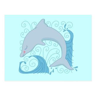 Cartão Postal Camiseta e presentes do sacudir do golfinho