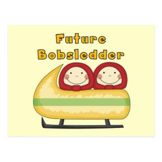Cartão Postal Camiseta e presentes futuros do Bobsledder
