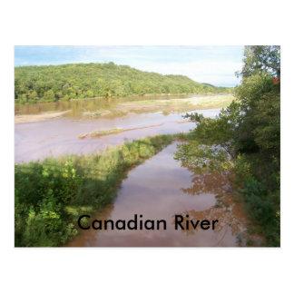 Cartão Postal Canadian River (Calvin Okla)