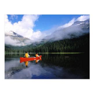 Cartão Postal Canoeing no laço internacional de Selkirk