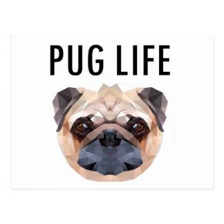 Cartão Postal Cão do design do Pug original