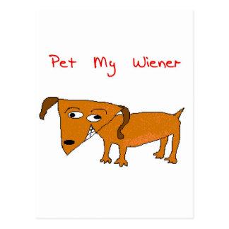 Cartão Postal cão do wiener