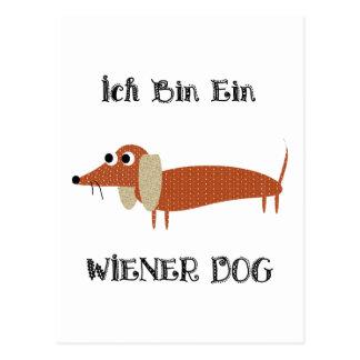 Cartão Postal Cão do Wiener de Ein do bin de Ich eu sou um