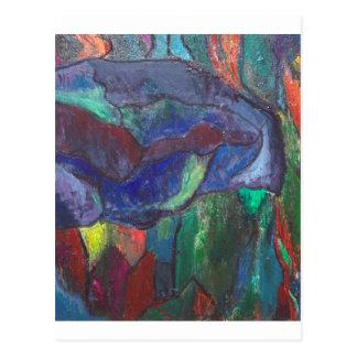 Cartão Postal Caos colorido (paisagem abstrata)