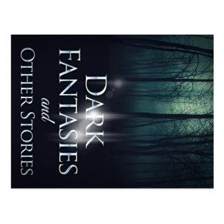 """Cartão Postal Capa do livro """"de fantasia escuras"""" por Joel Puga"""