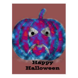 Cartão Postal Cara estarrecente feliz do Dia das Bruxas