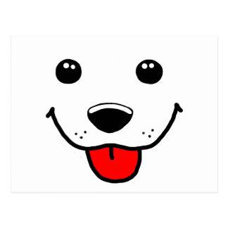 Cartão Postal Cara feliz do filhote de cachorro