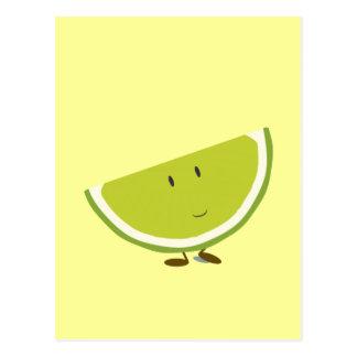 Cartão Postal Caráter cortado de sorriso do limão