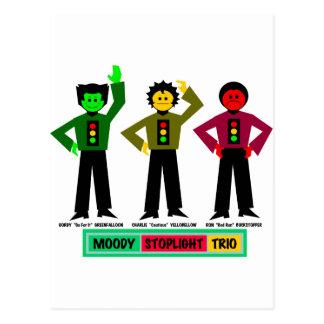 Cartão Postal Caráteres temperamentais do trio do sinal de