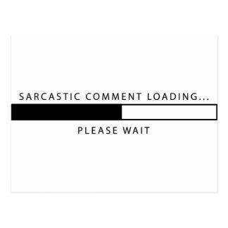 Cartão Postal Carga sarcástica do comentário