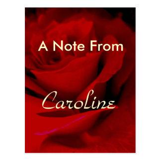 Cartão Postal Caroline