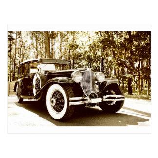 Cartão Postal Carro clássico do Sepia do vintage