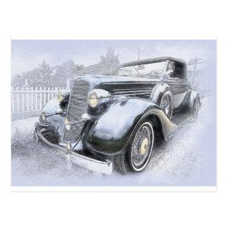 Cartão Postal Carros vintage velhos dos carros dos carros