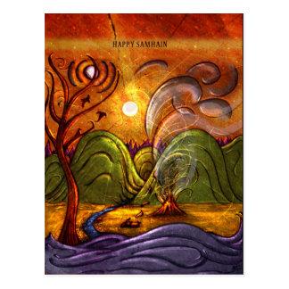 """Cartão Postal """"Cartão de Samhain feliz"""""""