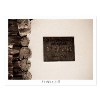 Cartão Postal Casa do memorial de Creanga do íon