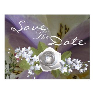 Cartão Postal Casamento bonito do lírio