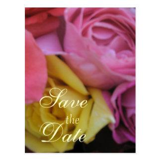 Cartão Postal Casamento cor-de-rosa da fantasia